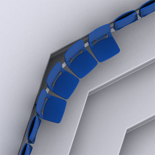 Box Seat Curved Rail